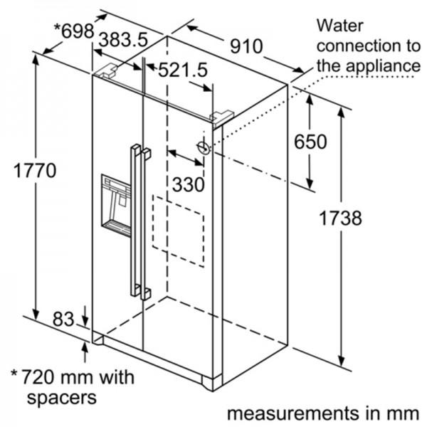 bản vẽ kỹ thuật tủ lạnh bosch KAG90AI20G