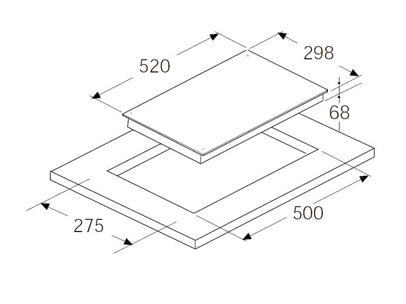 bản vẽ kỹ thuật bếp điện hafele 536.01.620