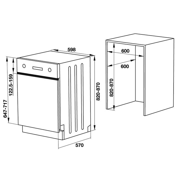 bản vẽ kỹ thuật máy rửa chén hafele 533.23.210