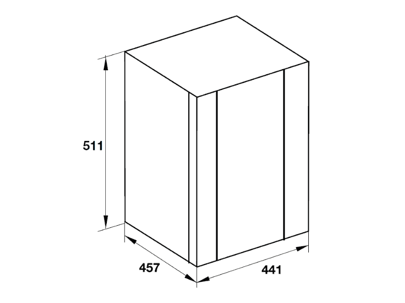 bản vẽ kỹ thuật tủ lạnh hafele 536.14.000