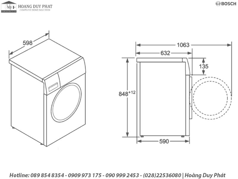 Máy giặt 9kg Bosch WAW28480SG 539.96.130