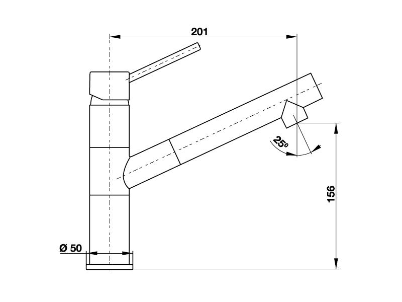 bản vẽ kỹ thuật vòi rửa chén hafele HF-GI511 569.15.511