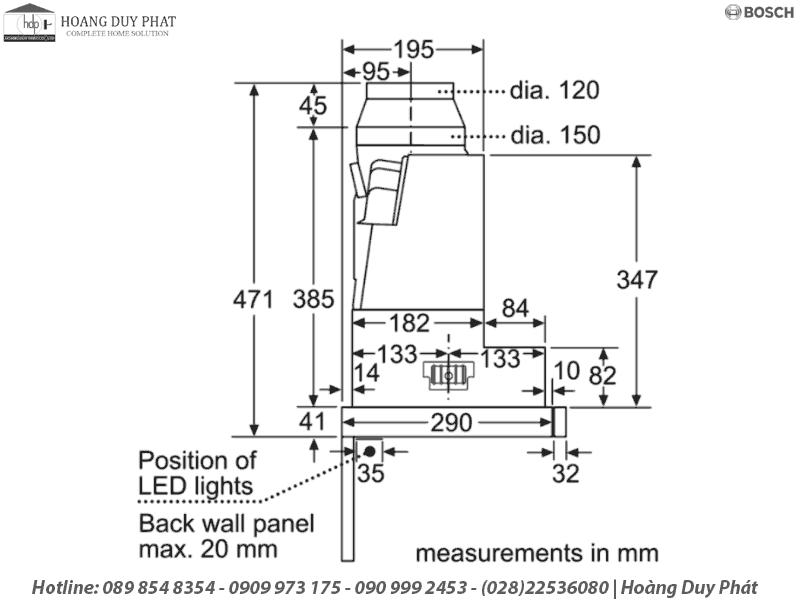 máy hút mùi bosch DFS067J50B