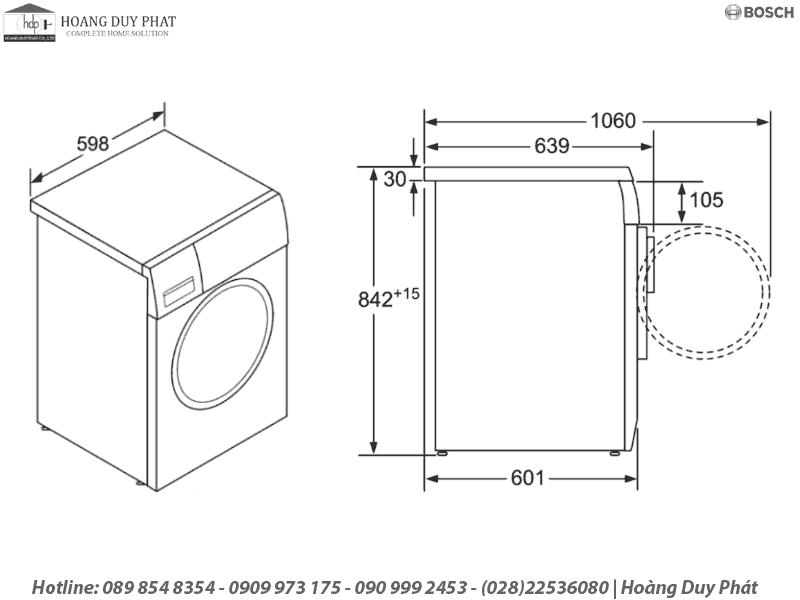 máy sấy bosch WTE84105GB