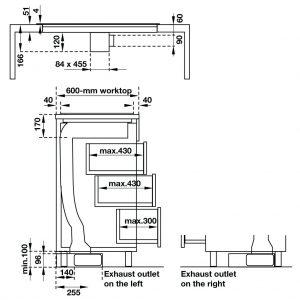 bản vẽ kỹ thuật Bếp điện từ kết hợp máy hút mùi Häfele HC-IHH80A 539.66.698