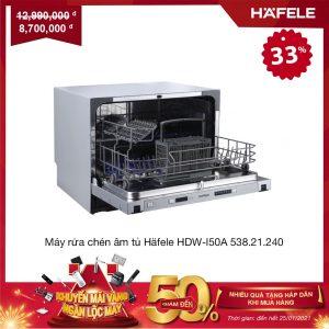 Máy rửa chén âm tủ Häfele HDW-I50A 538.21.240