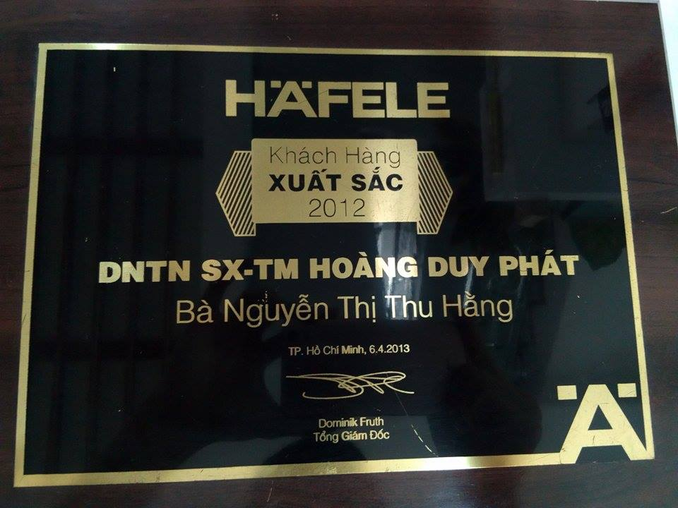 đại lý và nhà phân phối hafele xuất sắc 2012