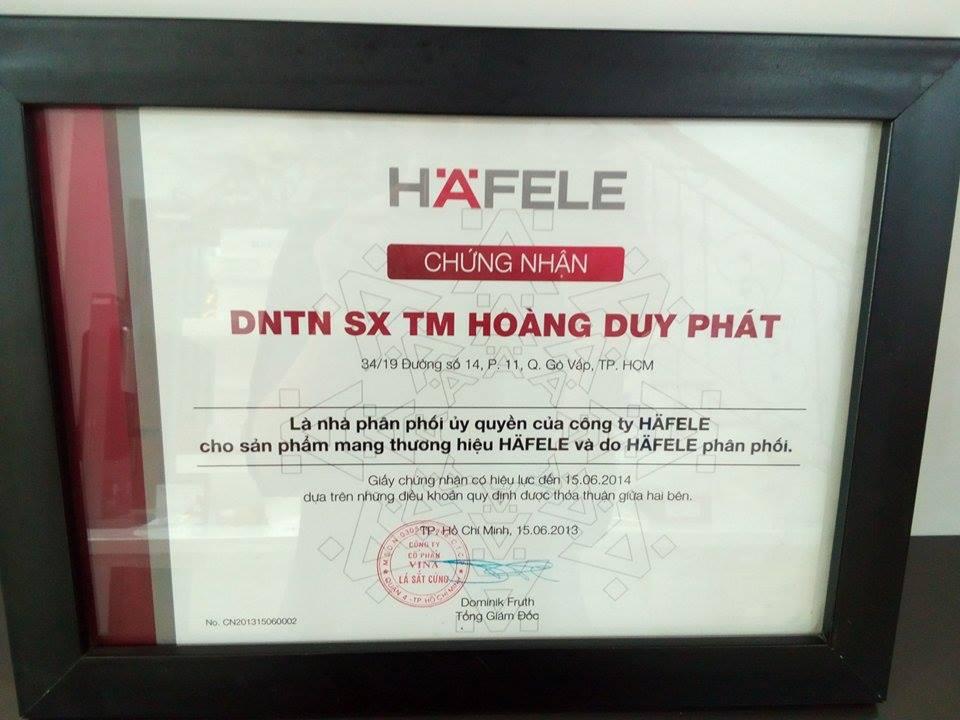 đại lý và nhà phân phối hafele xuất sắc 2013