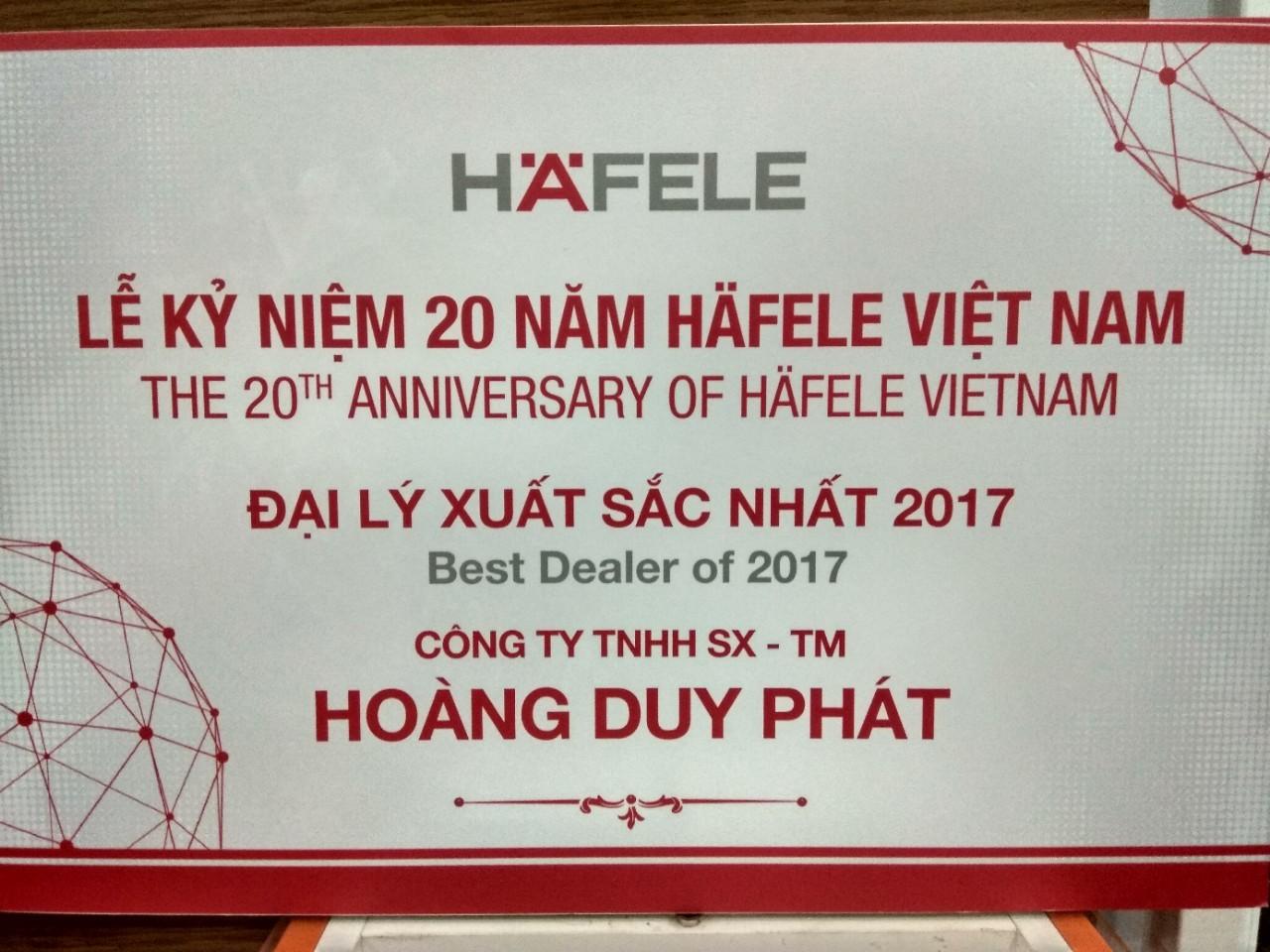 đại lý và nhà phân phối hafele xuất sắc 2017